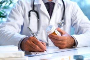 Doctor Writing Script for Medication
