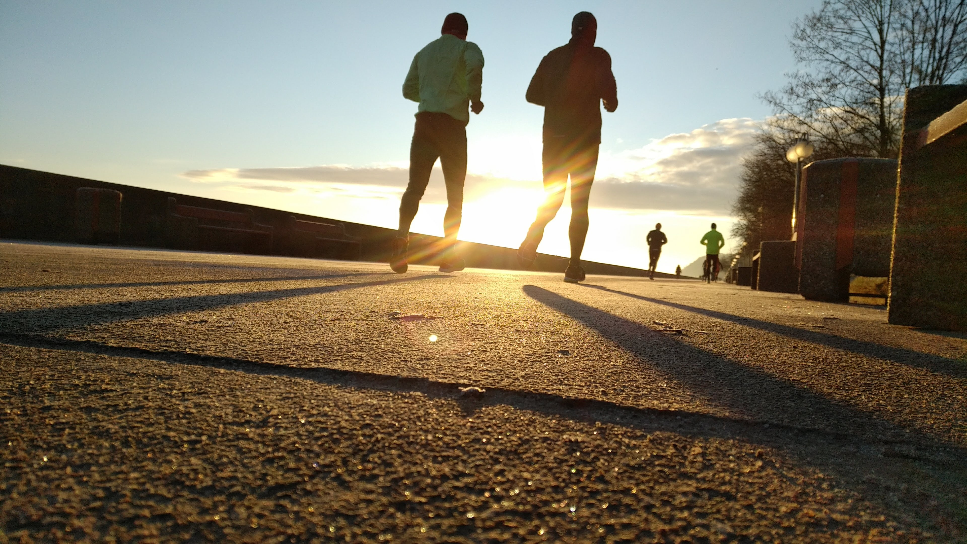 Runners Running at Sunset